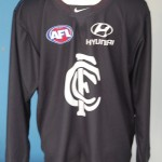 Silvangi wore long sleeves for carlton