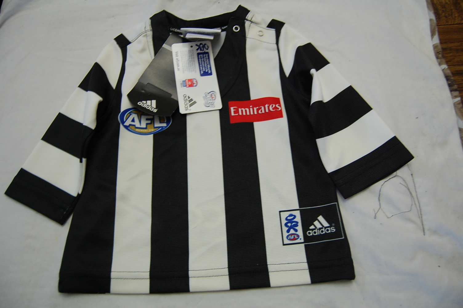 collingwood magpies baby jumper