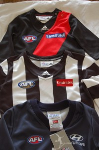 baby footy jumpers